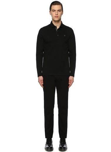 George Hogg George Hogg 7003942 Jakarlı Slim Fit Haki Sweatshirt Erkek Sweatshirt Siyah